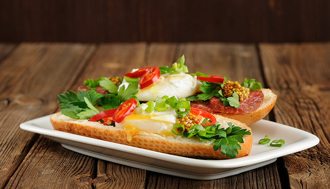 Egg Tomato and Scallion Sandwich Recipe 3